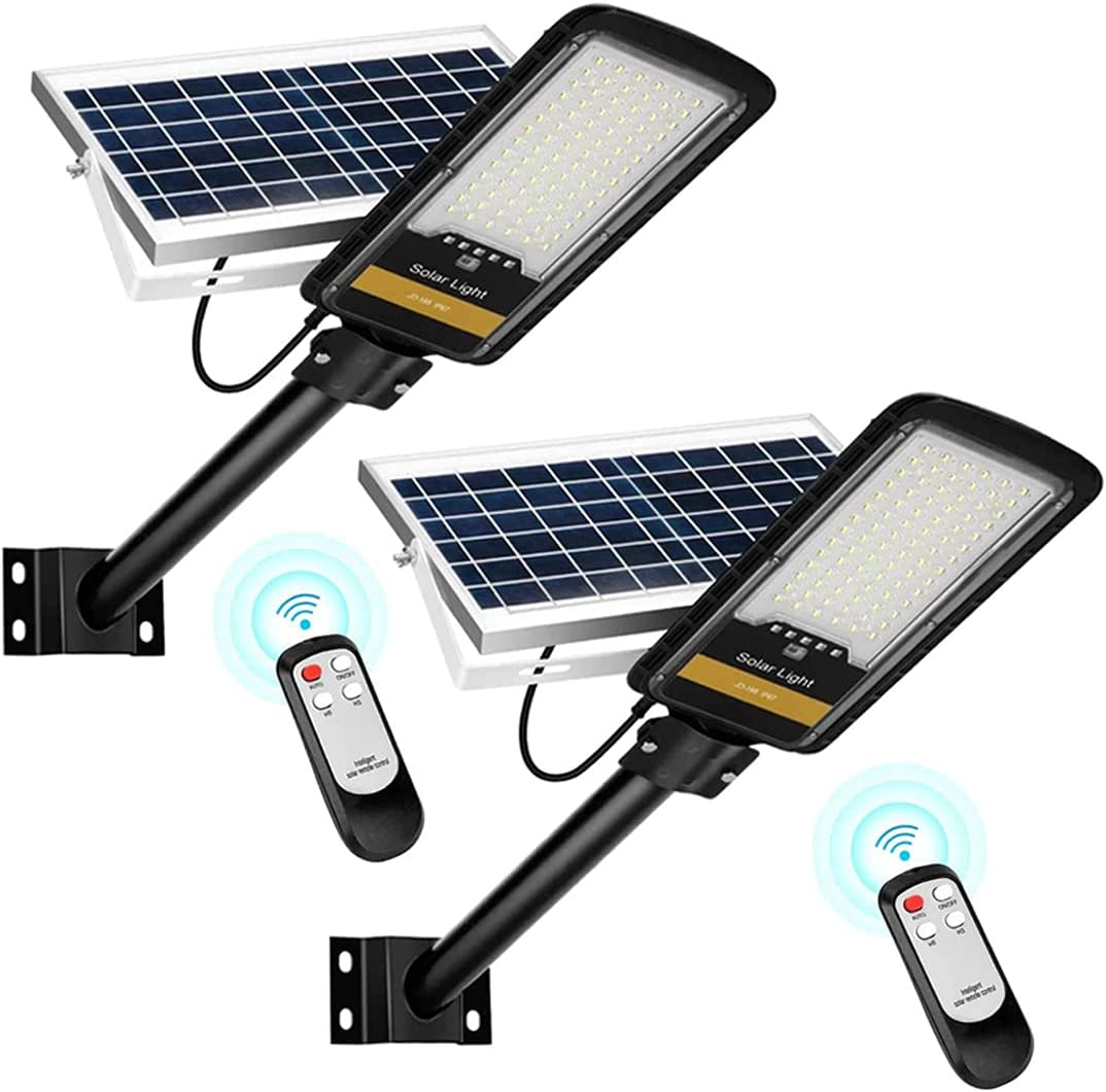 2 Pack Solar Street Lights 80W Broken Remote 100% depot quality warranty M Control Anti with