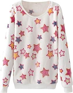 Sudaderas Adolescentes Chicas, Fossen Sudaderas Mujer Tumblr sin Capucha - Emoticon Estampado Camiseta Blusa Tops de Manga...