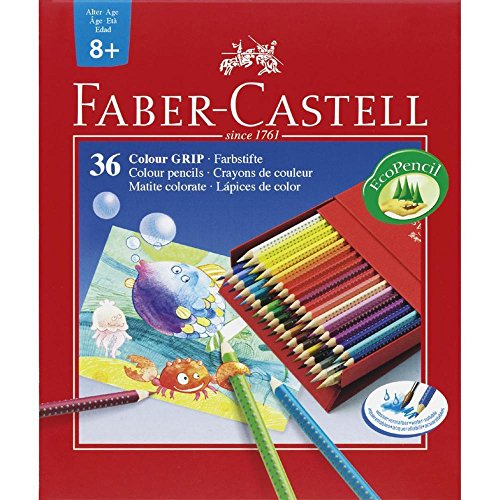 Faber-Castell 112436 - Farbstift Colour Grip Atelierbox 36er