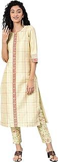 ZIYAA Women's Art Silk Straight Kurta