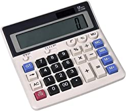 $50 » Z-Color Multi-Function Calculator, Electronic Desktop Calculator with 12 Digit Large Display Solar and AA Battery Dual Pow...