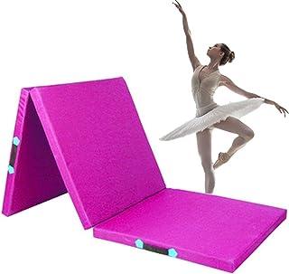 Gymnastikmattor Mjukt Golvmatta Triple Med Handtag Non-slip Sit-ups Oxford Fabric Crawling Mat För Barn, 3 Färger (Color :...