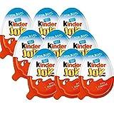 Totale 9 uova / 3 scatole Kinder 3 scatole (9 uova) sorpresa al cioccolato gioia per ragazzo con Hot Wheels all\'interno