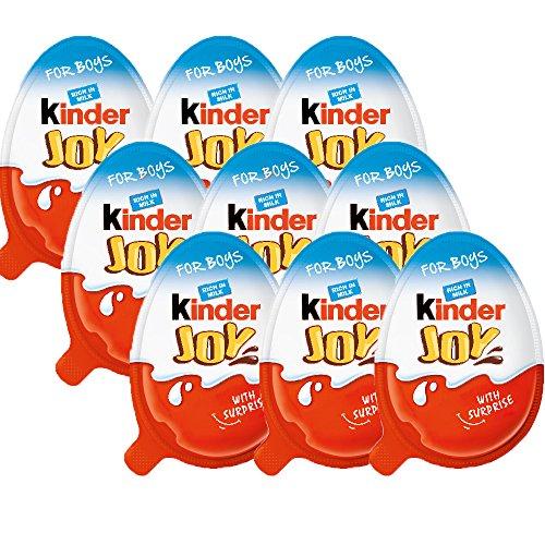 Kinder 3 cajas (9 huevos) sorpresa caliente de Chocolate alegría para niño con ruedas dentro de