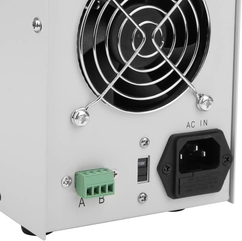 Umschaltbar 110 // 220V 0-30V // 0-5A Stabilisiertes Schaltnetzteil Regelbar Labornetzteil mit doppelter 4-stelliger LED-Anzeige EU Plug Labornetzger/ät