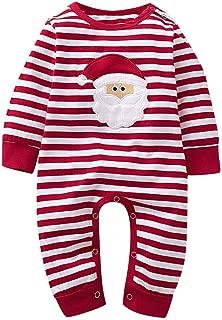 Weixinbuy Kids Baby Boys Girls Cotton Crewneck Santa Claus Christmas Pumpkin Halloween Clothes Set