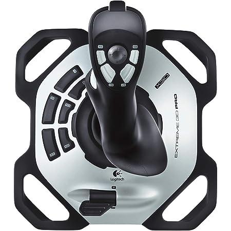 Logitech G Extreme 3D Pro Joystick, Control de Timón con Eje de Torsión, 12 Botones Programables, Selector de Vista 8 Vias, Base Sólida, Disparador de Acción Rápida, USB, PC - Negro/Plata