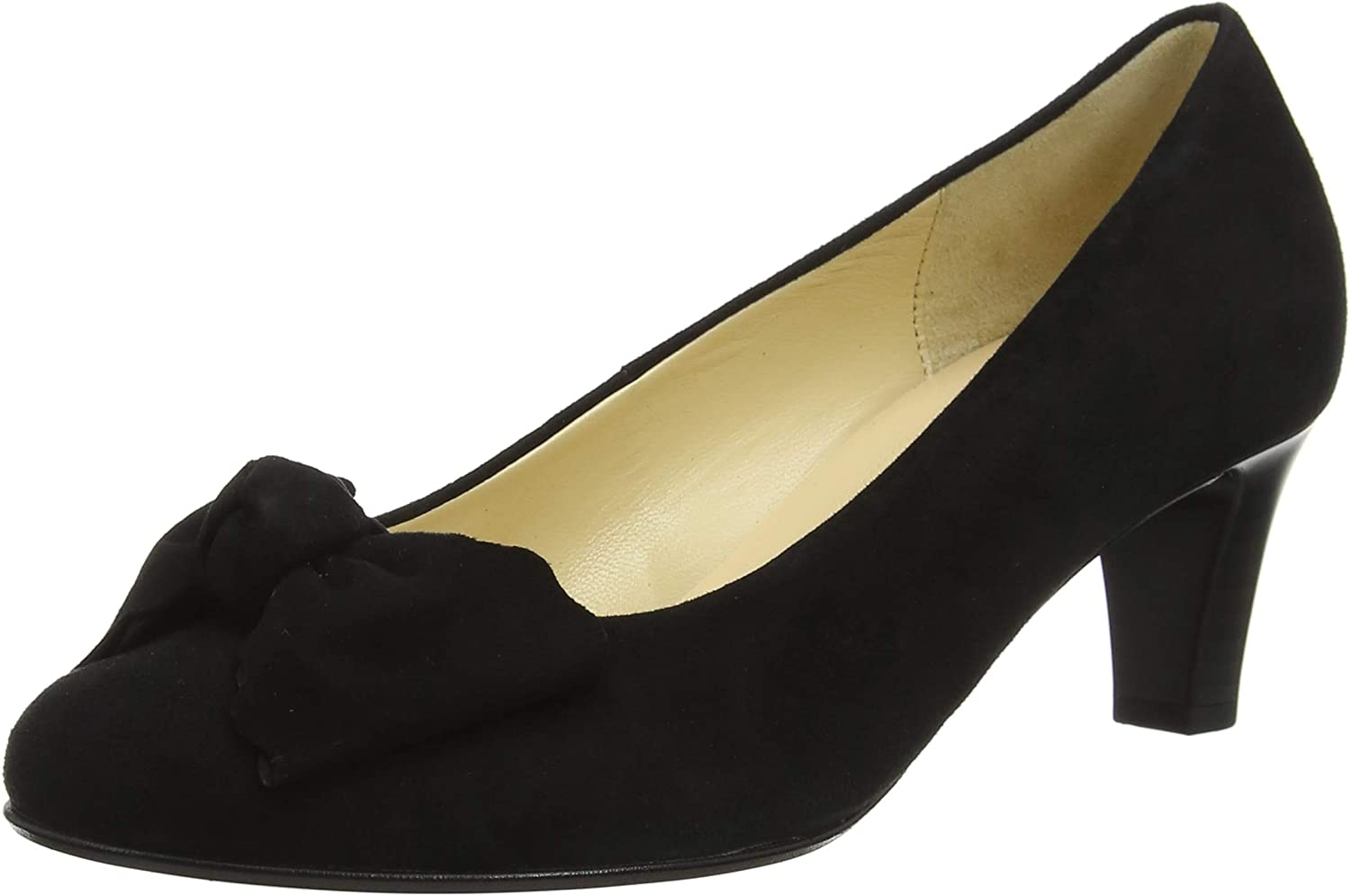 Gabor Orianna Womens Suede Bow Court shoes