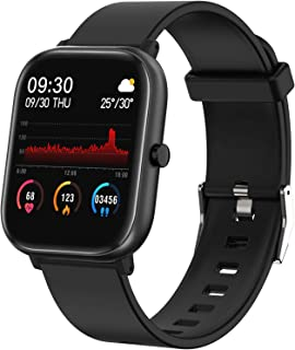 """Fitness Tracker, FirYawee Smart Watch for Android Phones,1.4"""" Touch Screen IP68 Waterproof Smartwatch with Heart Rate Moni..."""