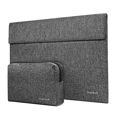 Inateck Laptop Case Sleeve Compatible with MacBook Air 13 2020/2019/2018, MacBook Pro 13 2016-2020, MacBook Air/MacBook Pro M1 2020, Surface Pro 7/6/X/5/4/3, iPad Pro 12.9 inch 2020, Xps 13 - Grey