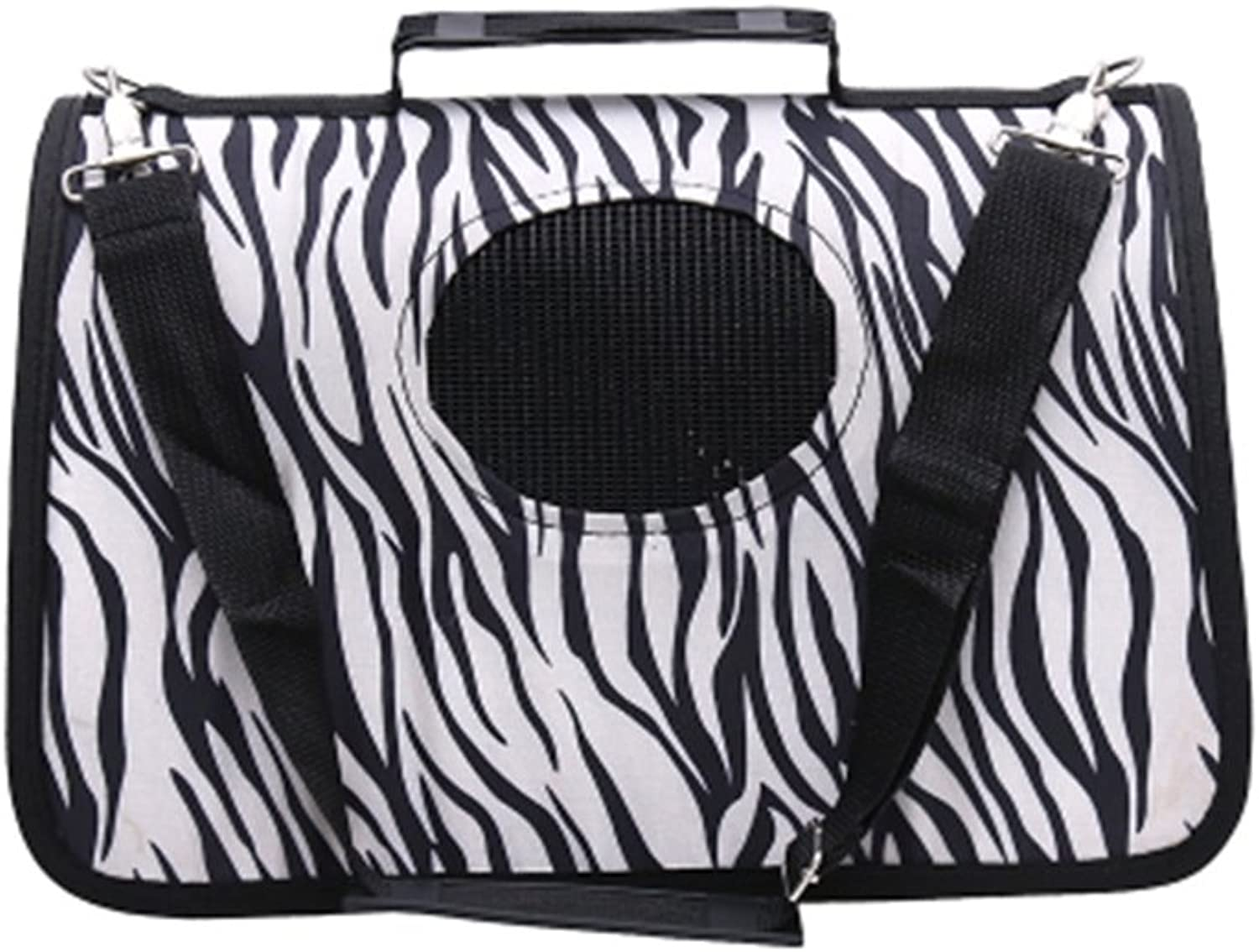 Pet Carrier Soft Sided Travel Bag for Small Dogs & Cats Airline Approved, Zebra