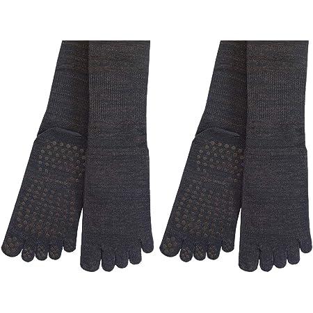 銅繊維靴下「足もとはいつも青春」五本指タイプ2足セット・静電気対策に