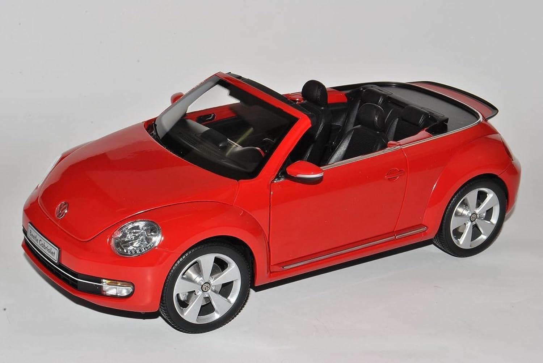 Kyosho Volkwagen Beetle Cabrio Tornado Rot Ab 2012 1 18 Modell Auto mit individiuellem Wunschkennzeichen