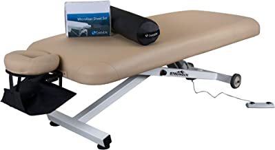 """STRONGLITE Electric Lift Massage Table Ergo Lift – Our Best Value Package incl. Face Cradle, Microfiber Sheet Set, Inflatable Stowaway Bolster & Hanging Armsling (30""""x73"""")"""