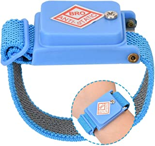 Anti Static Wrist Straps, Cordless Anti-Static Wrist Strap Discharge Band, ESD Discharge Cable Band Wrist Strap-Blue