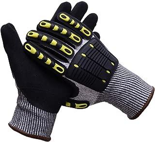 UNINOVA Cut Resistant Gloves - Mechanic Work Gloves Level 5 Nitrile Coating - Shockproof Hand Protection