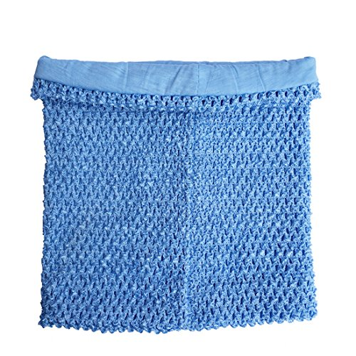 Light Blue Crochet Tutu Top Lined 12 Inches X 10 Inches Elastic Crochet Tube Top