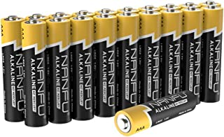 NANFU No Leakage Long Lasting AAA 20 Batteries [Ultra Power] Premium LR03 Alkaline Battery 1.5v Non Rechargeable Batteries for Clocks Remotes Games Controllers Toys & Electronic Devices …