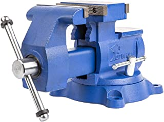 """Forward T4500 5.5-Inch Heavy Duty Reversible Bench Vise with 360-Degree Swivel Base (5 1/2"""", Industrial Grade)"""
