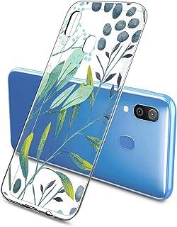Suhctup Compatible pour Samsung Galaxy A8S 2018 / A9 2019 Coque Silicone Transparent Ultra Mince Étui avec Clear Mignon Fl...