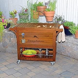 Tommy Bahama 100QT Wood Rooling Cooler