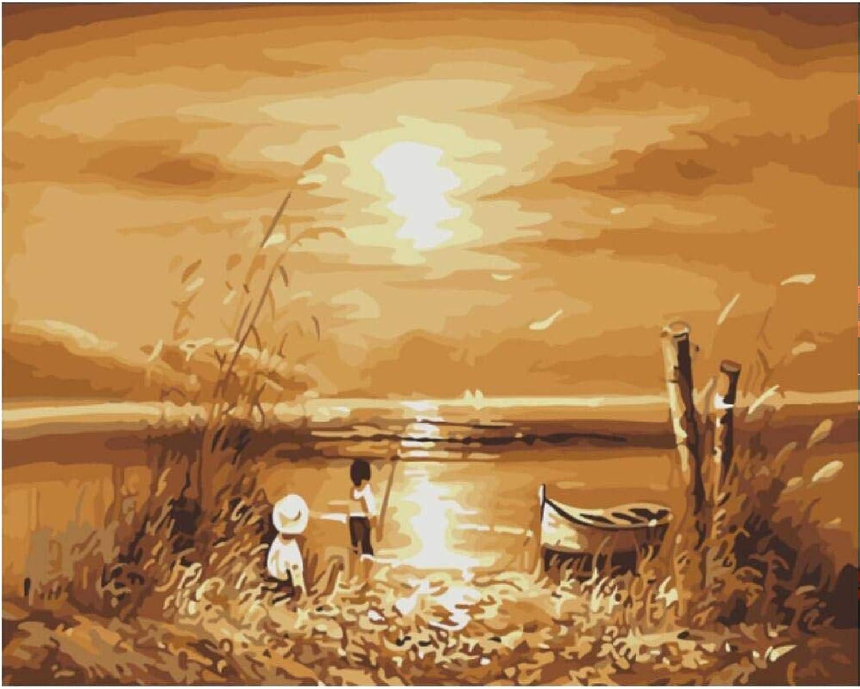 Superlucky Picture Painting by Numbers Impressionist Landscape DIY Digital Canvas Oil Painting Wall 40x50cm Mit Rahmen B07JBN9H6S | Ein Gleichgewicht zwischen Zähigkeit und Härte