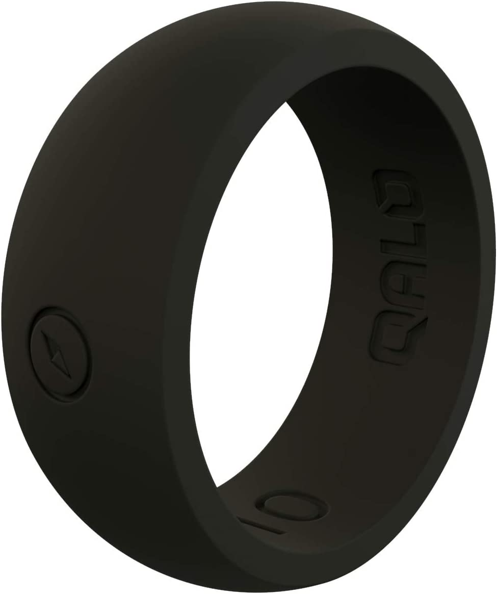 QALO Men's Black Classic Outdoors Silicone Ring Size 16
