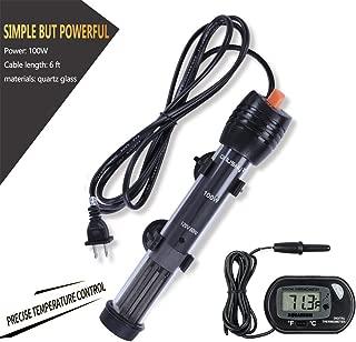 Orlushy Submersible Aquarium Heater,100W/150W/200W/300W Fish Tahk Heater with Adjust Knob..