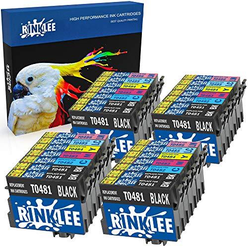 RINKLEE 28 Kompatible T0487 T0481-T0486 Druckerpatronen Ersatz für Epson Stylus Photo R300 R220 R340 R200 R320 RX500 RX600 RX620 RX640