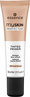 essence   My Skin Perfector Tinted Primer   Instant Blur Effect & Natural Matte Finish   Vegan, Paraben Free, Oil Free   Cruelty Free   (20   Nude Beige)