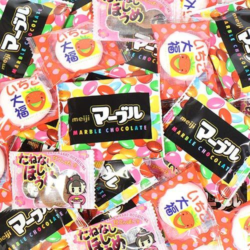 マーブルチョコ・いちご大福・たねなしほしうめ セット(3種・計35コ) おかしのマーチ