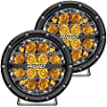 Rigid Industries 36201 360-Series LED Off-Road Light 6 in Spot Beam for High Speed 50 MPH Plus Amber Backlight Pair
