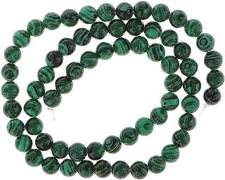 IPOTCH Cuentas De Piedras Preciosas Redondas De Malaquita Verde Filamento 6 Mm / 15,5 Pulgadas