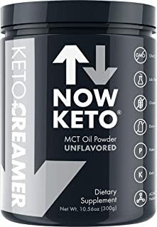 NOW KETO® Keto MCT Oil Powder from Coconuts | Low Carb High Fat | Medium Chain Triglyceride | Ketogenic Diet Supplement | ...