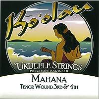 【KO'OLAU STRINGS】 MAHANA TENOR WOUND 3RD AND 4TH テナー用 ウクレレ弦 セット(クリアナイロン 3弦4弦のみ巻弦 Low-G)