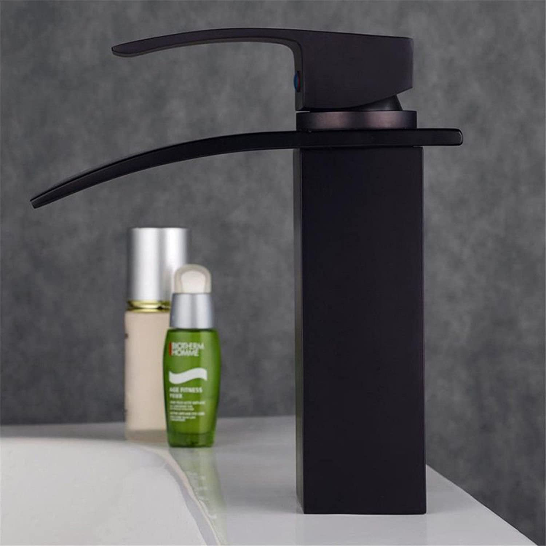 AQMMi Bathroom Sink Faucet Basin Mixer Tap Black Oil Rubbed Bronze Single Handle Antique Basin Sink Tap Bathroom Bar Faucet