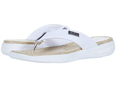 Kenneth Cole Reaction Ready Thong Espadrille (White) Women