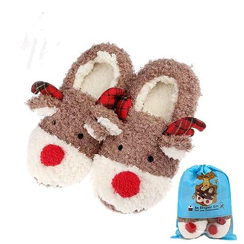 c6af31ef58e Reindeer Slippers  Amazon.com