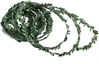 LJY 32.8 Yards Artificial Ivy Garland Foliage Green Leaves Fake Vine for Wedding Party Ceremony DIY Headbands