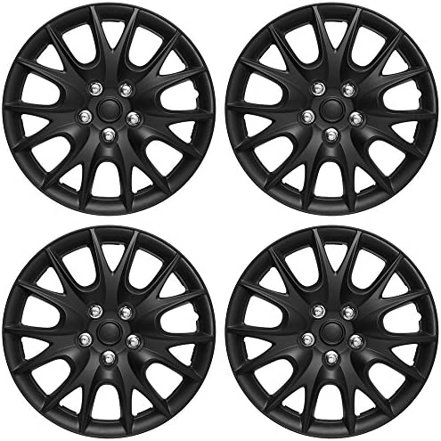 Hubcaps 15 inch Wheel Covers Set of 4 Hub Caps for 15in Wheels Rim Cover Car Accessories Black product image