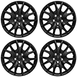15 inch Hubcaps Best for 1997-1999 Nissan Maxima - (Set of 4) Wheel Covers 15in Hub Caps Black Rim Cover - Car Accessories for 15 inch Wheels - Snap On Hubcap, Auto Tire Replacement Exterior Cap)