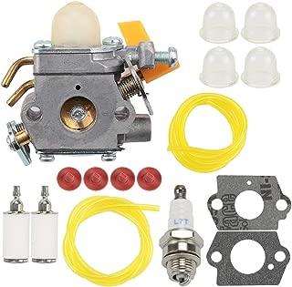 Wellsking 25CC Carburetor for 26cc 30cc Ryobi Homelite RY09800 RY28021 RY28041 RY28065 String Trimmer Brush Cutter Blower C1U-H60 308054013 308054012 308054043 with Tune Up Kits