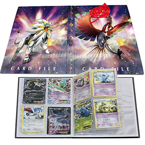 Card Album for Pokemon, Card Holder, Binder Cards Album Book Best Protection Trading Cards /GX EX Box/Put up to 240 Cards(Ho-Oh and Solgaleo)