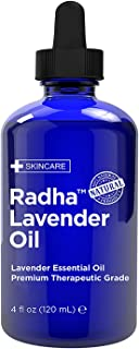 Radha Beauty - Lavender Essential Oil 4oz - Premium Therapeutic Grade, Steam Distilled for Aromatherapy, Relaxation, Slee...