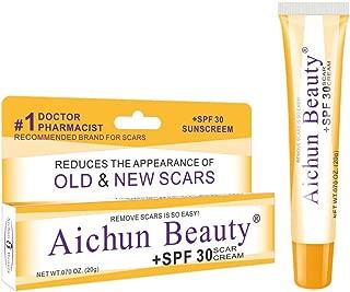 Ai chun Scar repair cream Burn Scar Removing Treatment – SPF 30 Scar Tissue Ointment – Scarring Gel – Ideal for Acne Scars, Surgery Signs, Burns & Cuts – 0.7 oz Lightweight Derma Gel