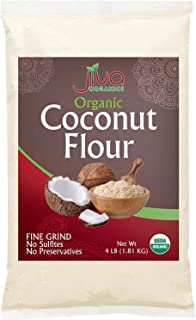 Jiva Organics Organic Coconut Flour 4 Pound Bulk Bag - Extra Premium & Fine Milled from Sri Lanka, Keto Friendly, Gluten-F...