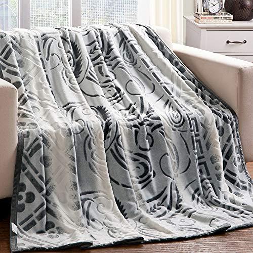 YIWANGO Nimen Cloud Mink Cashmere Blankets Manteaux d'art Mousses épaisses Manteaux De Cadeaux,A1