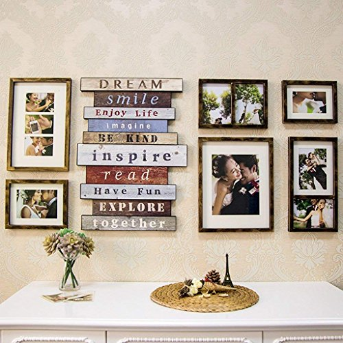 YLCJ creatieve fotocombinatie fotolijst, klassiek, hangend aan de muur fotokader Photo Studio bruidsjurk