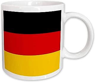 3dRose 158285_2 Flag Of Germany Mug, 15 oz, Black