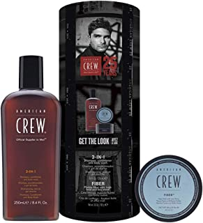 American Crew American Crew Essential Kit For Men, Fiber,7254112000,Black,S